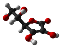 200px Ascorbic acid from xtal 1997 3D balls